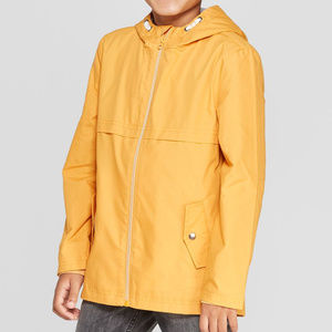 Boys' Yellow Anorak Windbreaker Jacket, M (8/10)